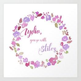 """Lydia, you go with Stiles"" - Stydia 3x11 Art Print"