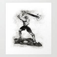 The Designated Slugger  Art Print