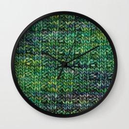 Knitted Basketweave Wall Clock