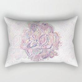 Abstract color line art Rectangular Pillow