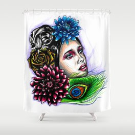 Fall Godess Shower Curtain