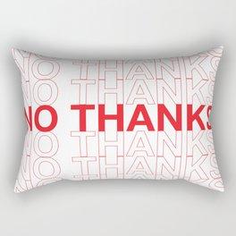 NO THANKS Rectangular Pillow