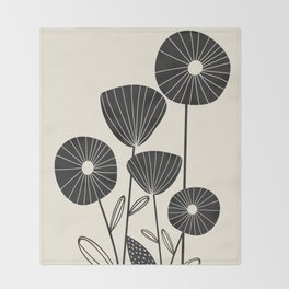 Abstract Flowers Throw Blanket