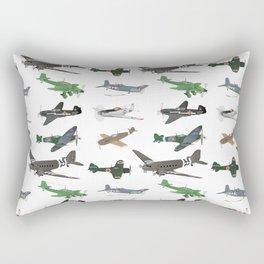 Multiple WW2 Airplanes Rectangular Pillow