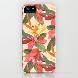 Mixed Paradise Tropicals in Vintage iPhone Case