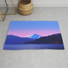 Mount Fuji Sunrise Rug
