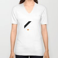 f1 V-neck T-shirts featuring F1 2015 - #98 Merhi [v2] by MS80 Design
