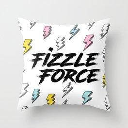 Fizzle Force Lightning Bolt Throw Pillow