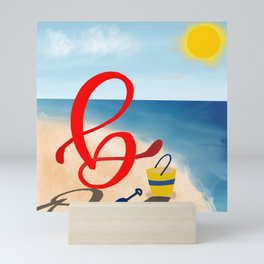 Baby B at the Beach Mini Art Print