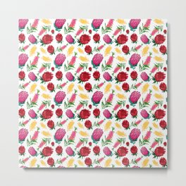 Beautiful Australian Native Floral Pattern Metal Print