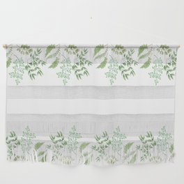 Green Leaves and Ferns Wall Hanging
