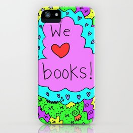 We love books! iPhone Case