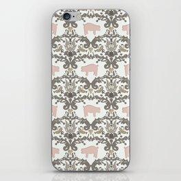 pig damask iPhone Skin