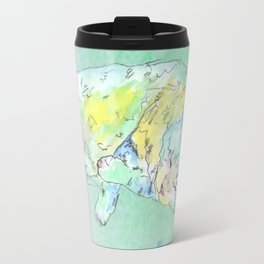 watercolor cat Travel Mug