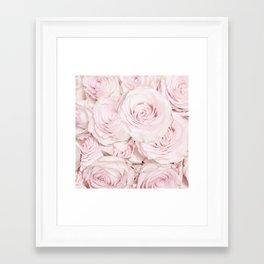 Roses have thorns- Floral Flower Pink Rose Flowers Framed Art Print