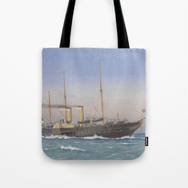 Vintage British Royal Yacht Illustration (1870) Tote Bag