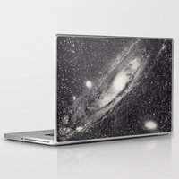 astronomy Laptop & iPad Skins featuring Vintage Astronomy-Nebula M31 Andromeda by lacelace