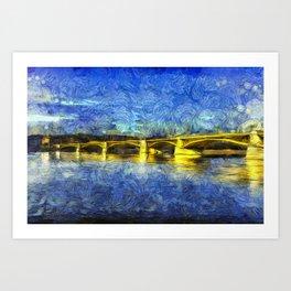 Margaret Bridge Budapest Van Goth Art Print