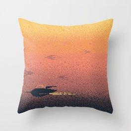 VENUS Space Tourism Travel Poster Throw Pillow