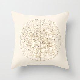 Visible Heavens - Gold Throw Pillow