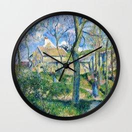 Camille Pissarro - The Path To Les Pouilleux, Pontoise - Digital Remastered Edition Wall Clock
