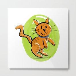 Orange Kitty Metal Print