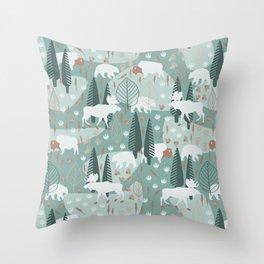 Yellowstone (Moss) Throw Pillow