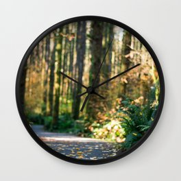 Forest trails Wall Clock
