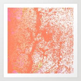 Rustic Peach, Abstract Art Texture Art Print
