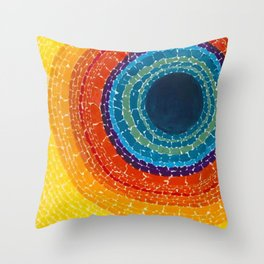African American Masterpiece The Eclipse by Alma Thomas Throw Pillow
