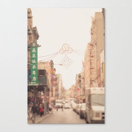 Morning in Chinatown Canvas Print
