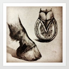 Horse Feet Art Print