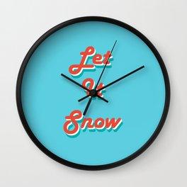 Retro Let it Snow Wall Clock