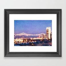 BAY BRIDGE GLOW - San Francisco Framed Art Print