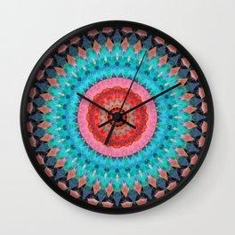 Mandala-turquoise Kaleidoskope Wall Clock