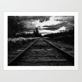 Historic Infrastructure in Disuse and Disrepair Art Print