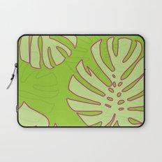 Green Monstera Leaves Unique Pattern Laptop Sleeve