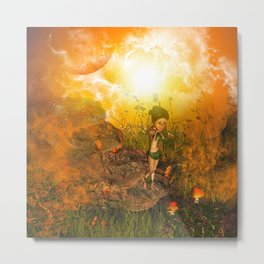 The land in the universe Metal Print