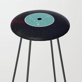 Vinyl Record Star Sign Art   Pisces Counter Stool