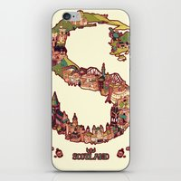 scotland iPhone & iPod Skins featuring S is for Scotland by Kelly Chilton
