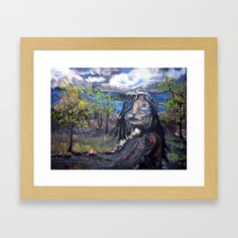 Native Path Framed Art Print