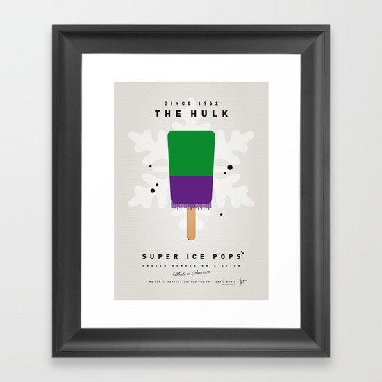 My SUPER ICE POP- No13 Framed Art Print