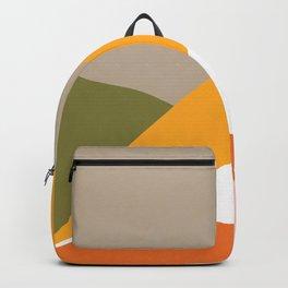 Minimal Landscape Collage 3.1 Orange & Green  Backpack