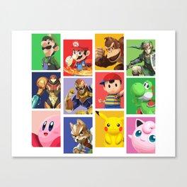 Super Smash Bros Veteran Canvas Print