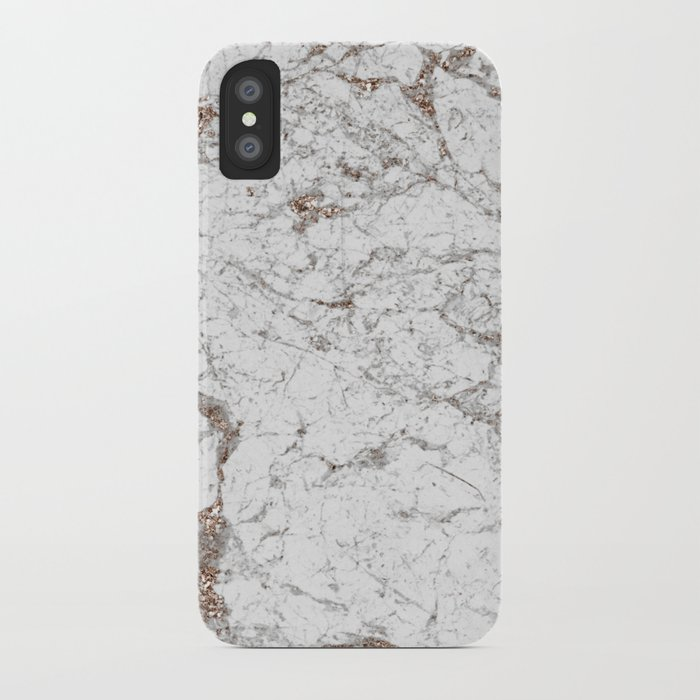online retailer 31c28 efc43 White frost - rose gold marble iPhone Case by marbleco