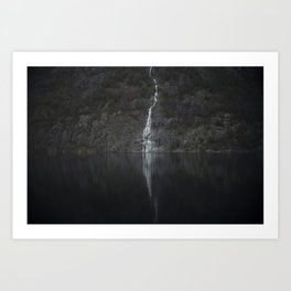 Waterfall (The Unknown) Art Print