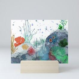 Sea life , dive deep Mini Art Print