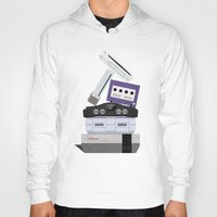 nintendo Hoodies featuring Nintendo Consoles by Michael Walchalk