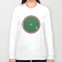 the hobbit Long Sleeve T-shirts featuring Hobbit Door by Jonathan Knight
