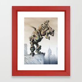 A man's best friend Framed Art Print